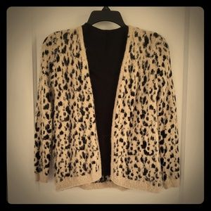 Cheetah Print Fluffy Cardigan